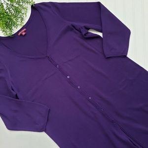 Jessica London Dark Purple Duster Cardigan 18/20